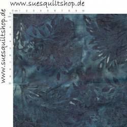 Hoffman Batik Blumen Ranken Blätter blau
