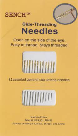 Sench Side Threading Needles, Selbsteinfädelnaden, Spiralnadeln