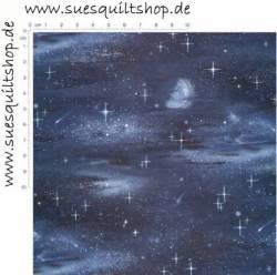 Elizabeths Studio Black Moon & Stars, Mond und Sterne schwarz blau
