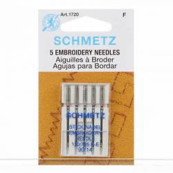 Schmetz Nähmaschinennadeln Sticken #90 5er Pack