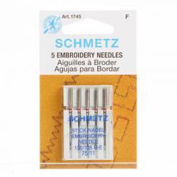 Schmetz Nähmaschinennadeln Sticken #75 5er Pack