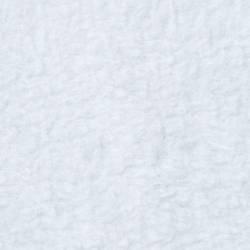 Fleece ca. 145 cm breit, weiss, 100% Baumwolle