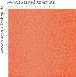 Benartex Schnörkel orange