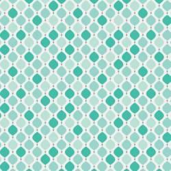 Camelot Fabrics Mint Teardrop weiß auf mint >>> Mini Bolt 2,95 m<<<