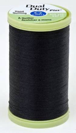 Coats Handquiltgarn Dual Duty Plus ca. 297 m, Fb. 0900 Black schwarz