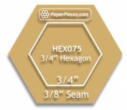 Acrylschablone Hexagon   3/4 inch mit 3/8 inch Nahtzugabe