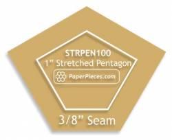 Acrylschablone Pentagon unregelmässiges Fünfeck 1 inch mit 3/8 inch Nahtzugabe
