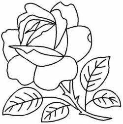 Schablone  9 inch Rose