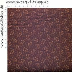 Exclusively Quilters Blätter rötlich-braun  >>>  Mindestbestellmenge 1 Meter <<<