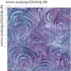 Robert Kaufman Retro Wave Batik violett petrol