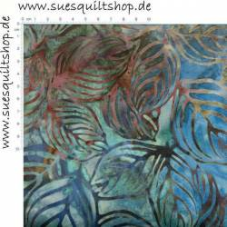Robert Kaufman Winter Leaves Batik Blätter violett blau grünlich-braun