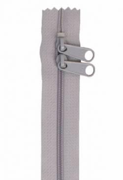 Reissverschluss 30 inch (ca. 76,2 cm) zinngrau mit 2 Schiebern