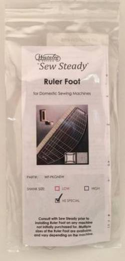 Westalee Ruler Foot Starter Set HIGH Shank für z.B. Brother 1500 PQ