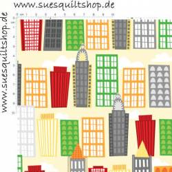 Wilmington Big City Friends, Gebäude bunt auf zartgelb >>> Mini-Bolt 2,10 m <<<