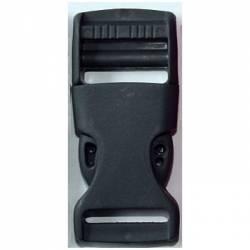Gurtband Steckschließer 25 mm schwarz