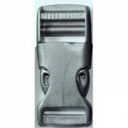Gurtband Steckschließer 25 mm grau