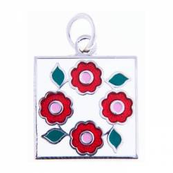 Quilt Charm Rose of Sharon