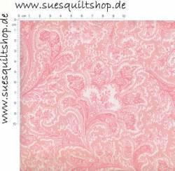 Benartex Rosemont Petal rosa weiss Rückseitenstoff überbreit