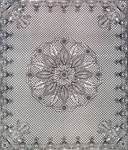 Wholecloth Quilt Top 90x108 inch Welsh Beauty Queen Size weiss