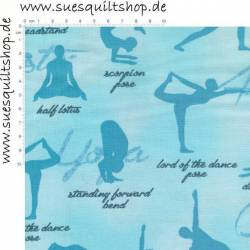 Robert Kaufman Sports 4 Life Yoga Blue blau