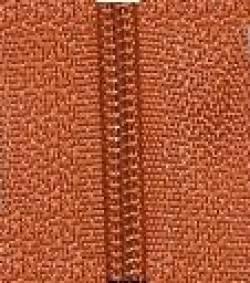 Endlosreißverschluß terracotta - OHNE Zipper!!!