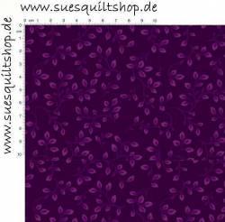 Henry Glass Folio Rückseitenstoff Blätter u. Ranken violett auf violett