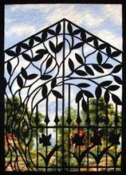 Creative Iron Applikation Summer Gate 33 x 47 inch
