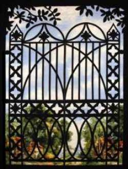 Creative Iron Applikation Lorettas Gate 35 x 46 inch