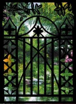 Creative Iron Applikation Floral Gate 20 x 27 inch