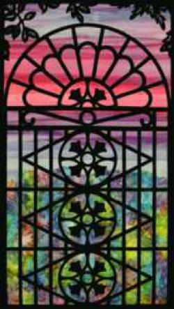 Creative Iron Applikation Tulip Gate 29 x 52 inch