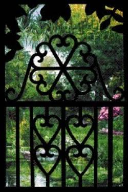 Creative Iron Applikation Heart Gate 18 x 30 inch