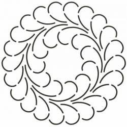 Schablone  7 inch Feathered Wreath Federkranz