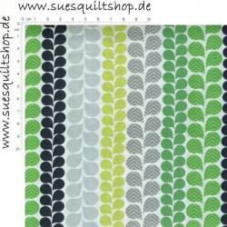 Camelot Green With Envy Blätter grau grün schwarz auf weiss >>> Mindestbestellmenge 1 Meter <<<