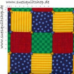 VIP Bears On The Go Quadrate rot gelb blau grün >>>  Mindestbestellmenge 1 Meter <<<