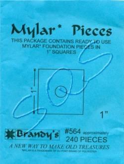 Mylar-Schablonen Quadrate  1 inch, ca. 240 Stück