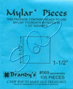 Mylar-Schablonen Quadrate  1-1/2 inch, ca. 105 Stück