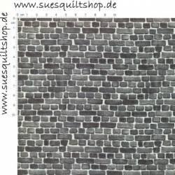 Stof Remake Mauersteine grau