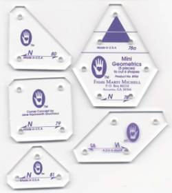 Perfect Patchwork Templates Set N Mini Geometric Templates