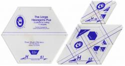 Perfect Patchwork Templates Set H Large Hexagon Plus Templates