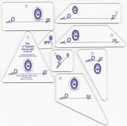 Perfect Patchwork Templates Set D 4 inch Square Bonus Set