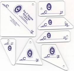 Perfect Patchwork Templates Set C 3 inch Square Bonus Set