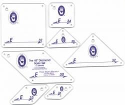 Perfect Patchwork Templates Set E 45° Diamond Template Set