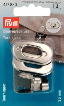 Prym Drehverschluß für Taschen silberfarben 35 x 20 mm