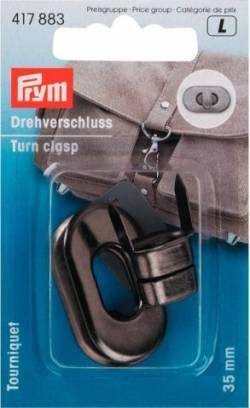 Prym Drehverschluß für Taschen altsilber 35 x 20 mm