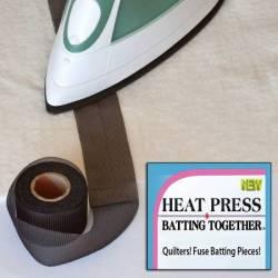 Bügelschnellverbinder Heat Press Batting (Together) 1.5 inch x 15 yd SCHWARZ