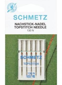 Schmetz Nähmaschinennadeln Topstitch #100 5er Pack