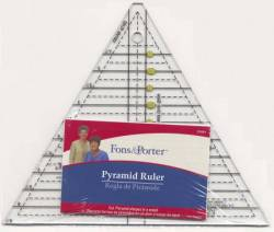 Fons & Porter Pyramid Ruler, 60°-Lineal 1-6 inch