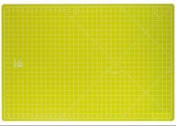 PRYM Schneidematte apfelgrün mit gelbem Raster 60 x 90 cm (und 24x36 inch)