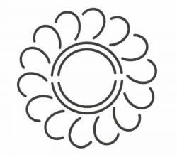 Schablone  3.5 inch Feather Circle Federkranz