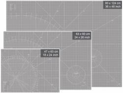 Schneidematte grau-weiß 18 x 24 inch oder 47 x 63 cm
